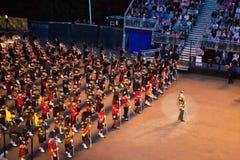 Σκωτσέζικοι σωλήνες στη στρατιωτική δερματοστιξία του Εδιμβούργου Στοκ Φωτογραφίες
