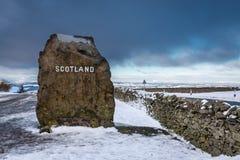 Σκωτσέζικος δείκτης Stone συνόρων Στοκ Φωτογραφίες