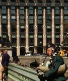 Σκωτσέζικος τραγουδιστής bagpipe Στοκ Εικόνες
