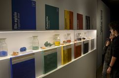 Σκόνες οξειδίων που χρησιμοποιούνται ως χρώματα στοκ εικόνες