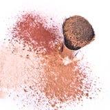 σκόνη βουρτσών makeup Στοκ φωτογραφία με δικαίωμα ελεύθερης χρήσης