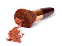 Σκόνη και βούρτσα Makeup στοκ φωτογραφία