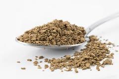 Σκόνη καφέ στο κουτάλι στοκ εικόνες με δικαίωμα ελεύθερης χρήσης