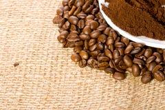 σκόνη καφέ φασολιών Στοκ Εικόνα