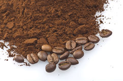 Σκόνη καφέ Στοκ Εικόνες