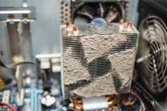 Σκόνη μέσα στον υπολογιστή στοκ φωτογραφία