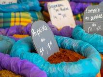 Σκόνη πάπρικας στην πώληση σε έναν bazaar Στοκ Φωτογραφία