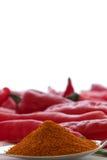 Σκόνη πιπεριών του Cayenne στο κουτάλι σούπας Στοκ εικόνα με δικαίωμα ελεύθερης χρήσης