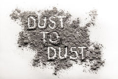 Σκόνη στη σκόνη που γράφεται στη σκόνη Στοκ Εικόνες