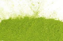 Σκόνη του πράσινου matcha τσαγιού Στοκ Εικόνα