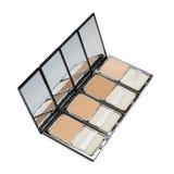 Σκόνη Makeup με τον καθρέφτη Στοκ Φωτογραφία