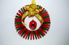 Σκόπελος Χριστουγέννων φιαγμένος από clothespins Στοκ Εικόνες
