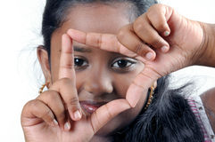 σκόπευτρο μορφής χεριών Στοκ Φωτογραφίες