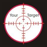 σκόπευτρο στόχων σας Στοκ φωτογραφίες με δικαίωμα ελεύθερης χρήσης