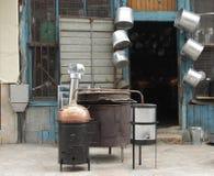 Σκόπια, Μακεδονία, κατάστημα υλικού στοκ φωτογραφία