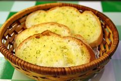 σκόρδο ψωμιού Στοκ Εικόνα