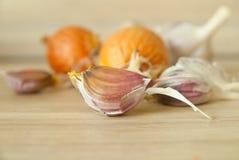 Σκόρδο και κρεμμύδι Στοκ Εικόνες