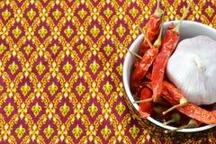 Σκόρδο και τσίλι Στοκ Εικόνες