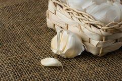 σκόρδο καλαθιών μικρό Στοκ φωτογραφία με δικαίωμα ελεύθερης χρήσης