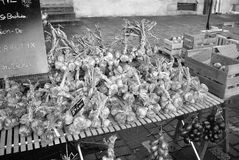 Σκόρδο σε μια παλαιά αγορά Στοκ Εικόνες