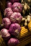 Σκόρδο, φυστίκι, καλαμπόκι, Στοκ Φωτογραφίες