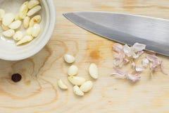 Σκόρδο φλούδας Στοκ Φωτογραφία