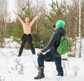 Σκλήρυνση στον παγωμένο αέρα Στοκ Εικόνες