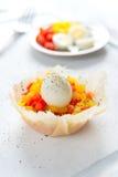 Σκληρά βρασμένα αυγά ορτυκιών με το καψικό Στοκ εικόνες με δικαίωμα ελεύθερης χρήσης
