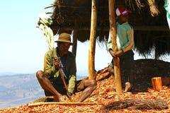 Σκληρά εργαζόμενο φτωχό malagasy άτομο Στοκ εικόνα με δικαίωμα ελεύθερης χρήσης