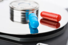 σκληρά χάπια ρυθμιστή υπο&lamb Στοκ Εικόνα
