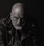 Σκληρός άνδρας στο δέρμα Στοκ Φωτογραφία