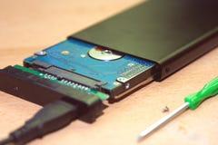 σκληρός δίσκος μέσω USB Στοκ Εικόνα