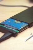 σκληρός δίσκος μέσω USB Στοκ εικόνα με δικαίωμα ελεύθερης χρήσης