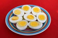Σκληρός-βρασμένα αυγά Στοκ Φωτογραφίες