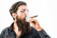 Σκληρός πλούσιος άνθρωπος με το πούρο Στοκ φωτογραφίες με δικαίωμα ελεύθερης χρήσης