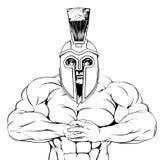 Σκληρός τρωικός λιτός ή gladiator διανυσματική απεικόνιση