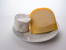 Σκληρό και μαλακό τυρί Στοκ Φωτογραφίες