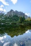 σλοβάκικη Καρπάθια λίμνη βουνών το φθινόπωρο Pleso Popradske Στοκ φωτογραφίες με δικαίωμα ελεύθερης χρήσης