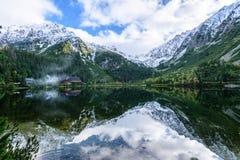 σλοβάκικη Καρπάθια λίμνη βουνών το φθινόπωρο Pleso Popradske Στοκ Εικόνες