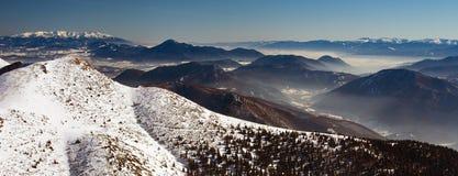 Σλοβάκικο τοπίο το χειμώνα, πανόραμα Στοκ φωτογραφία με δικαίωμα ελεύθερης χρήσης