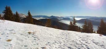 Σλοβάκικο τοπίο το χειμώνα Στοκ εικόνα με δικαίωμα ελεύθερης χρήσης