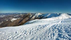 Σλοβάκικο χειμερινό τοπίο στα βουνά Mala Fatra Στοκ εικόνα με δικαίωμα ελεύθερης χρήσης