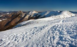 Σλοβάκικο χειμερινό τοπίο στα βουνά Mala Fatra Στοκ φωτογραφία με δικαίωμα ελεύθερης χρήσης