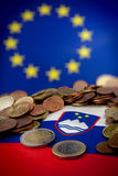 Σλοβενία στην ευρο- κρίση Στοκ φωτογραφία με δικαίωμα ελεύθερης χρήσης