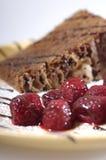 σμέουρα σοκολάτας κέικ Στοκ φωτογραφίες με δικαίωμα ελεύθερης χρήσης