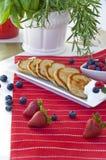 σμέουρα τηγανιτών βακκινί&ome Στοκ εικόνες με δικαίωμα ελεύθερης χρήσης