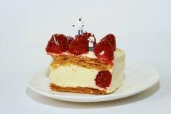 σμέουρο κέικ Στοκ Εικόνα