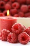 σμέουρο κεριών Στοκ εικόνες με δικαίωμα ελεύθερης χρήσης