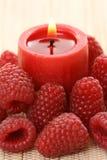 σμέουρο κεριών Στοκ Φωτογραφία
