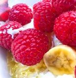 Σμέουρο, μπανάνα και μέλι στοκ εικόνες με δικαίωμα ελεύθερης χρήσης